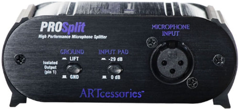 ART PROSPLIT High Performance 2-Way Mic Splitter - PSSL ProSound and Stage Lighting