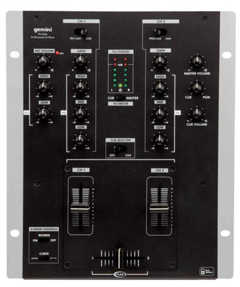 Gemini PS-424-X 2-Channel 10-Inch DJ Mixer - PSSL ProSound and Stage Lighting