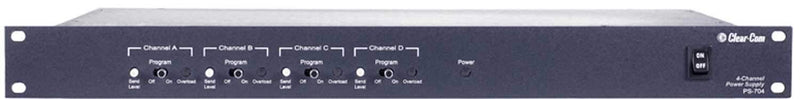 Clear-Com PS-704 4-Channel Rack Mount Power Supply - PSSL ProSound and Stage Lighting