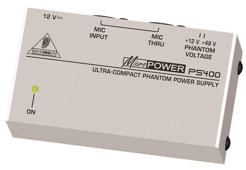 Behringer MicroPower PS400 Selectable 12V/48V Phantom Power Supply - PSSL ProSound and Stage Lighting