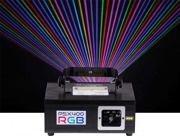X-Laser PSX-400 RGB 400mw RGB DMX Laser Fixture with EZ Variance Kit - PSSL ProSound and Stage Lighting