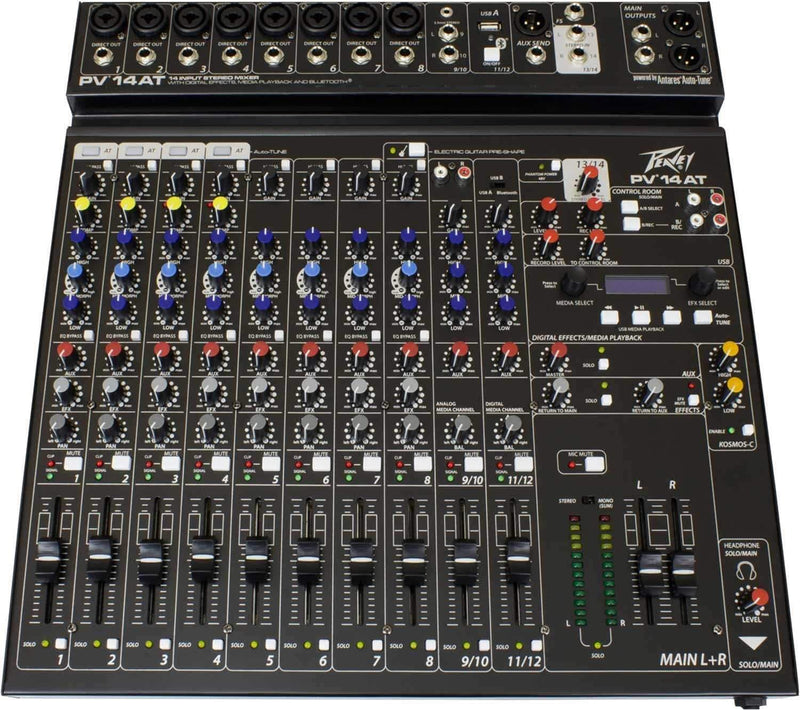 Peavey PV 14 AT 12-Channel Mixer with Autotune - PSSL ProSound and Stage Lighting