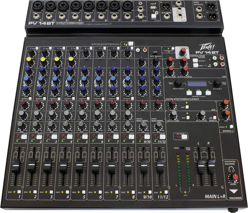 Peavey PV 14 BT 12-Channel Mixer with Bluetooth - PSSL ProSound and Stage Lighting
