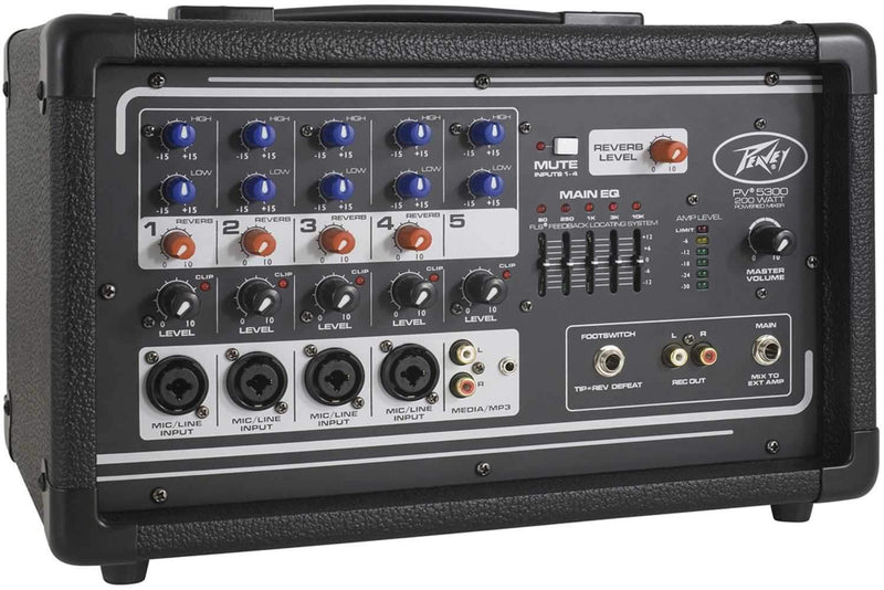 Peavey PV 5300 4-Input Pwered Mixer - 200W - PSSL ProSound and Stage Lighting