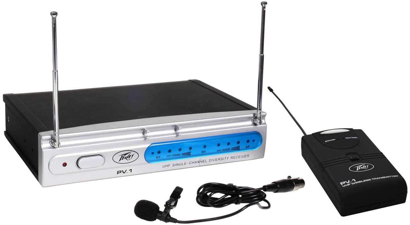 Peavey PV1 U1 UHF Wireless Lavalier Mic System - PSSL ProSound and Stage Lighting