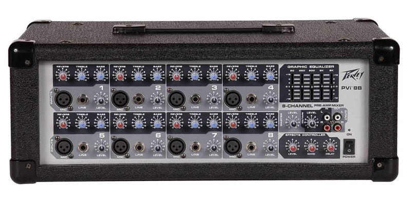 Peavey PVI 8B 150 Watt 8-Ch Powered Mixer with Effect - PSSL ProSound and Stage Lighting