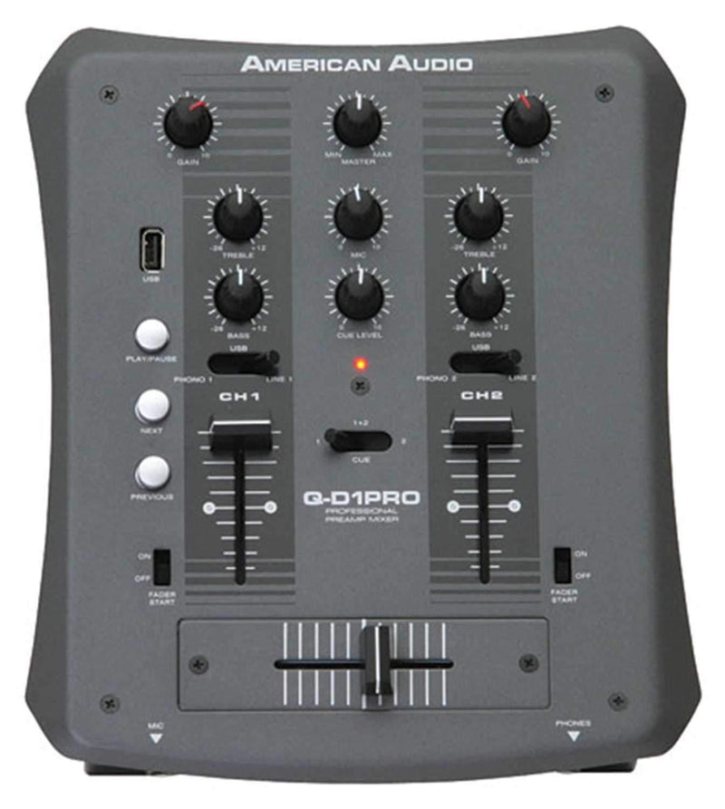 American Audio Q-D1-PRO Mixer with Memory Stick Slot - PSSL ProSound and Stage Lighting