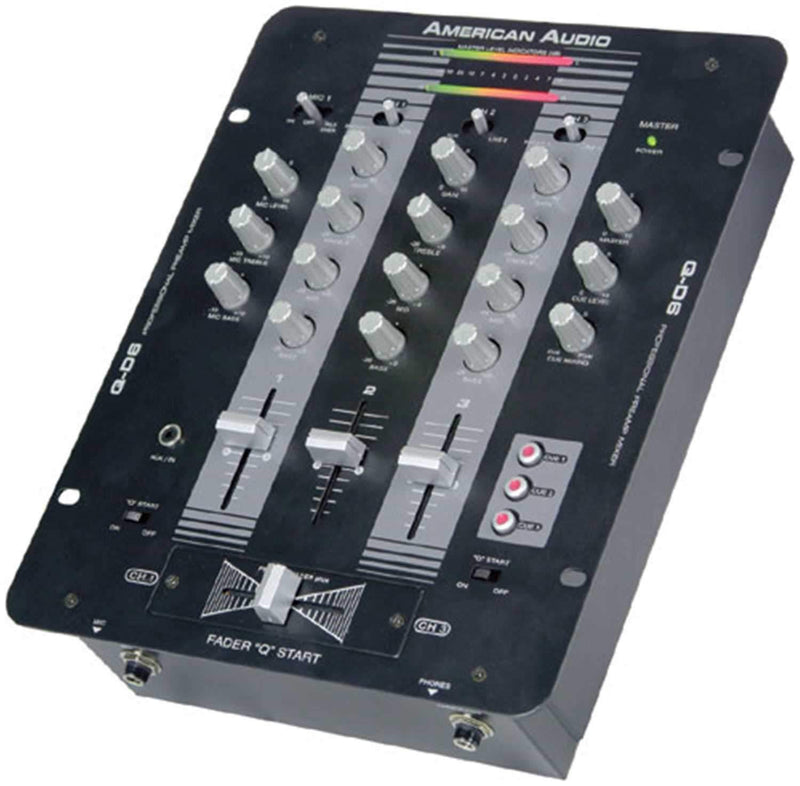 American Audio QD6 3 Channel Pro DJ Mixer - PSSL ProSound and Stage Lighting