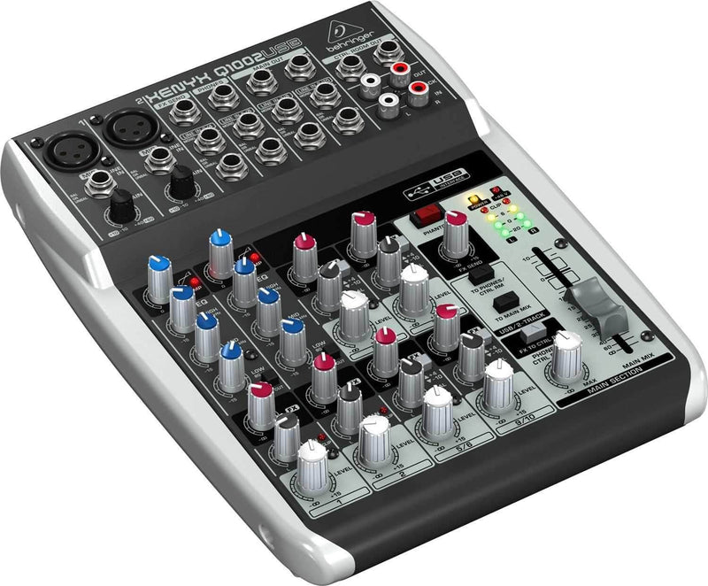 Behringer Xenyx Q1002USB 10-Input Small Format Audio Mixer with USB Output - PSSL ProSound and Stage Lighting