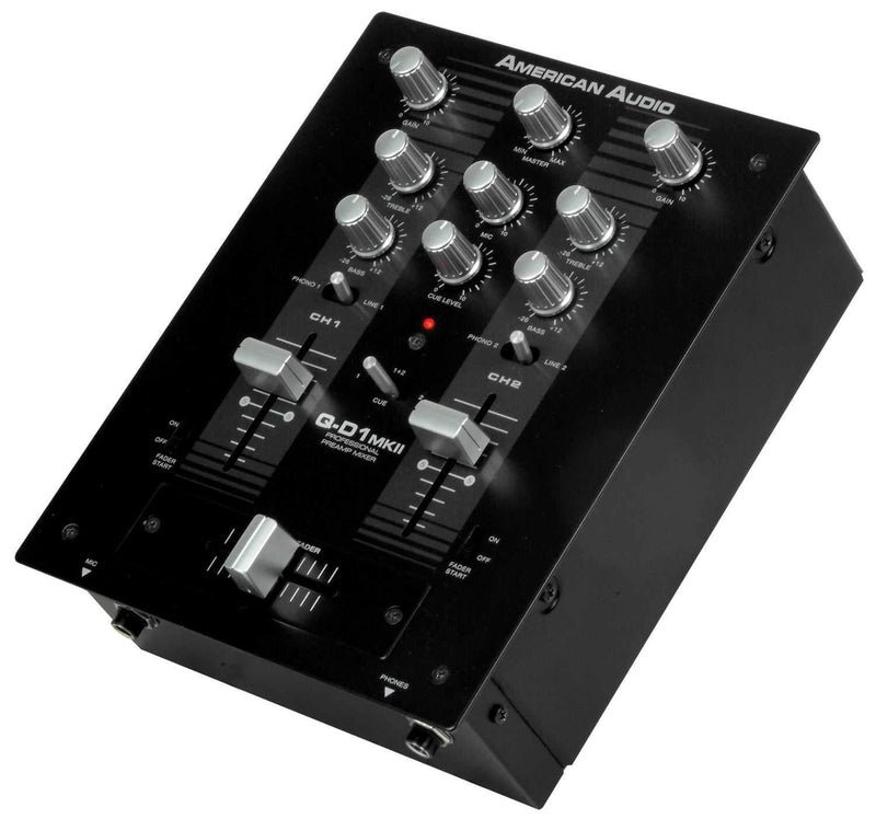 American Audio Q-D1 MKII 2-Channel DJ Mixer - PSSL ProSound and Stage Lighting
