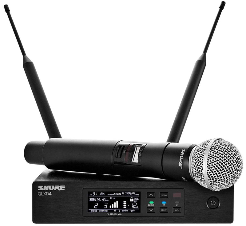 Shure QLXD Dual Wireless Mic WL185 Lav & SM58 G50 - PSSL ProSound and Stage Lighting