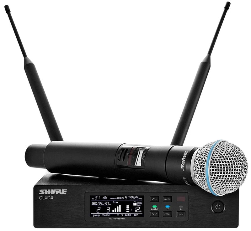 Shure QLXD Wireless Handheld Mic Sys with Beta58 H50 - PSSL ProSound and Stage Lighting