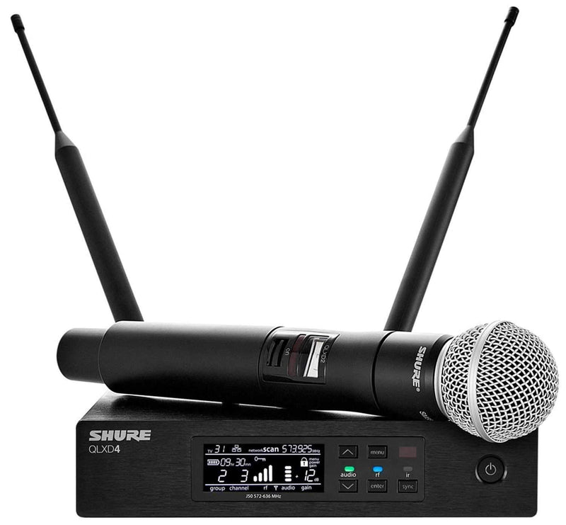 Shure QLXD Wireless Handheld Mic System w SM58 V50 - PSSL ProSound and Stage Lighting