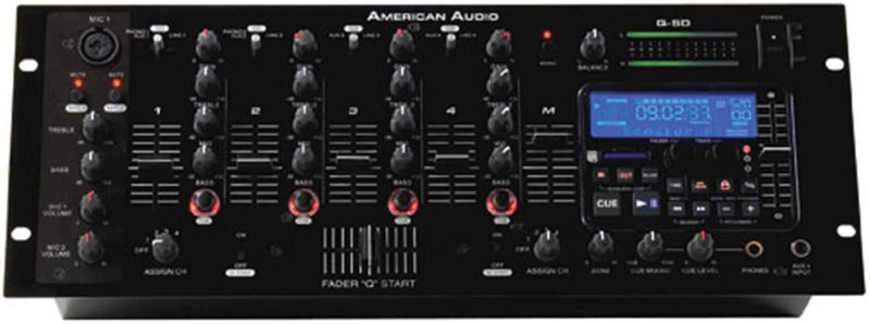 American Audio QSD 19 In DJ Mixer With SD Player - PSSL ProSound and Stage Lighting