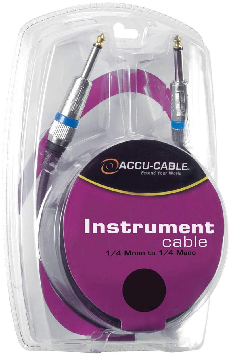 Accu-Cable QTR20 20 Ft 1/4-Inch (M) to 1/4-Inch (M) TS Instrument Cable - PSSL ProSound and Stage Lighting