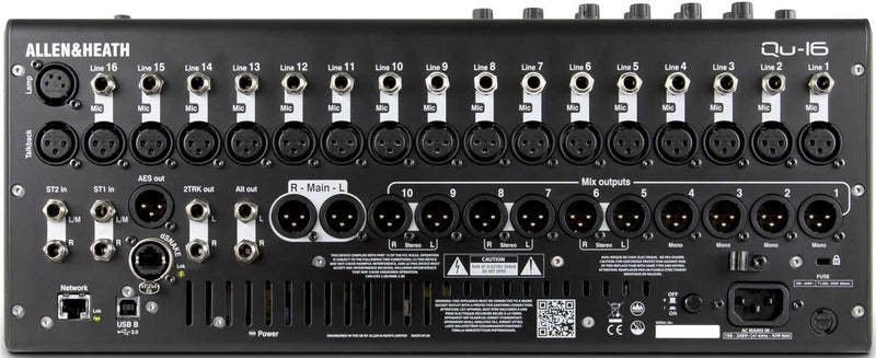Allen & Heath QU-16 Digital Live Sound PA Mixer - PSSL ProSound and Stage Lighting