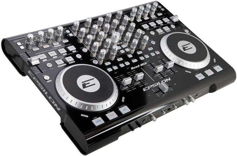 Epsilon QUAD-MIX 4 Deck 4 Ch DJ Controller - PSSL ProSound and Stage Lighting