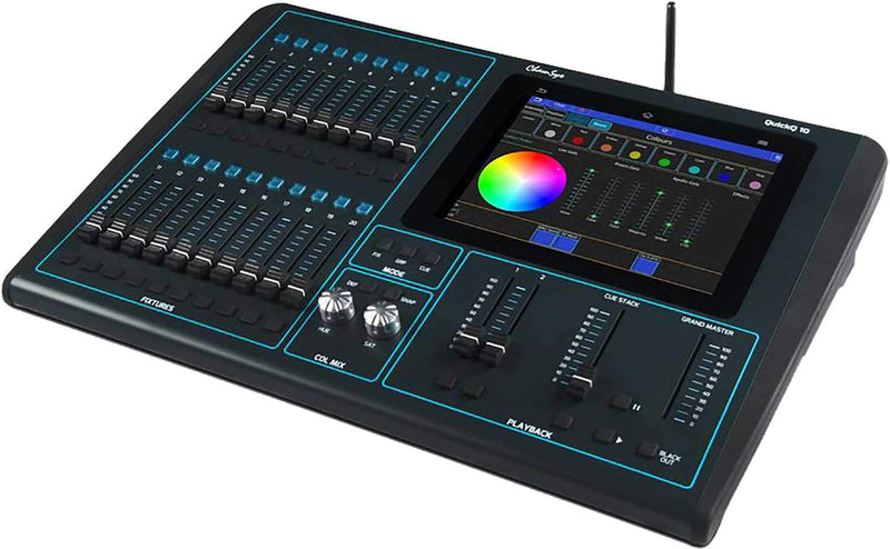 ChamSys QuickQ 10 Single Universe Compact Lighting Console - PSSL ProSound and Stage Lighting