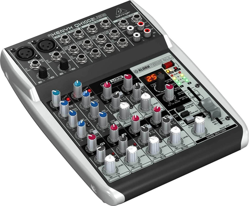 Behringer Xenyx QX1002USB 10-Input Mixer with USB & FX - PSSL ProSound and Stage Lighting