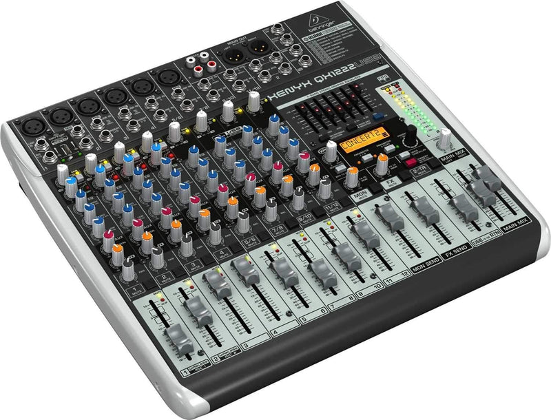 Behringer Xenyx QX1222USB 16-Input PA Mixer with USB - PSSL ProSound and Stage Lighting