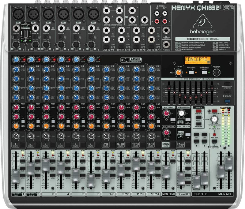 Behringer Xenyx QX1832USB 16-Input Mixer with FX - PSSL ProSound and Stage Lighting