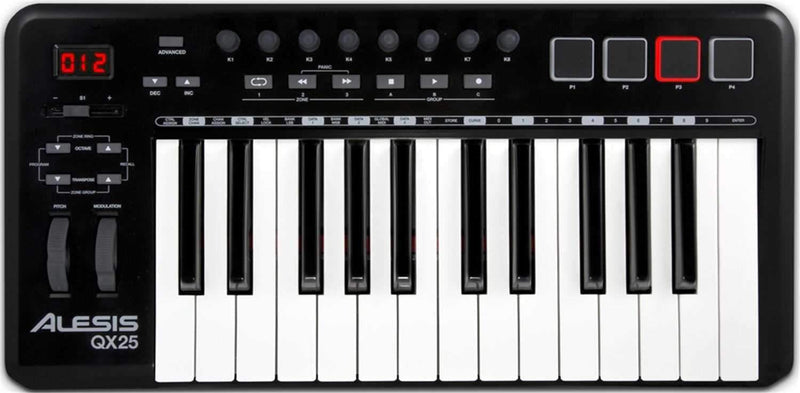 Alesis QX25 USB/MIDI 25-Key Controller with Faders - PSSL ProSound and Stage Lighting
