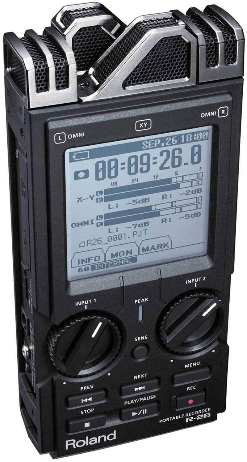 Roland R-26 6-Channel Handheld Field Recorder - PSSL ProSound and Stage Lighting