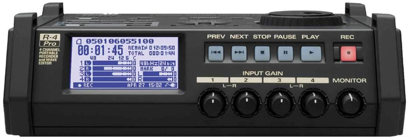 Edirol R4PRO 4 Ch Recorder with Time Code And Wave Ed - PSSL ProSound and Stage Lighting
