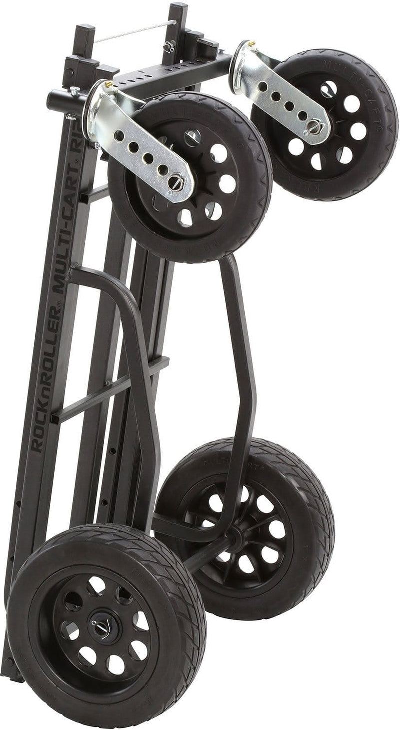 Rock N Roller R12 Stealth Black MultiCart with R Trac Tires - PSSL ProSound and Stage Lighting