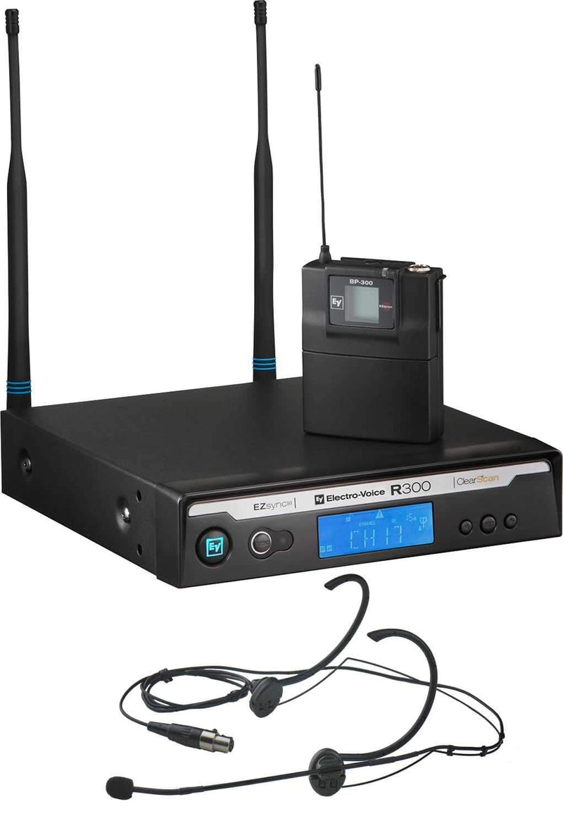 Electro-Voice R300-E-C Headworn Wireless System with Case - PSSL ProSound and Stage Lighting