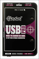 Radial Engineering USB-Pro Digital Stereo DI - PSSL ProSound and Stage Lighting