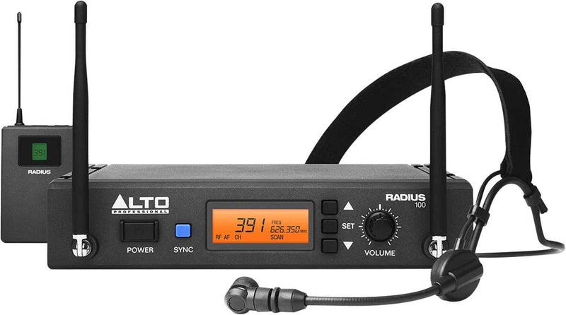 Alto Professional RADIUS 100H UHF Wireless Headset Microphone - PSSL ProSound and Stage Lighting