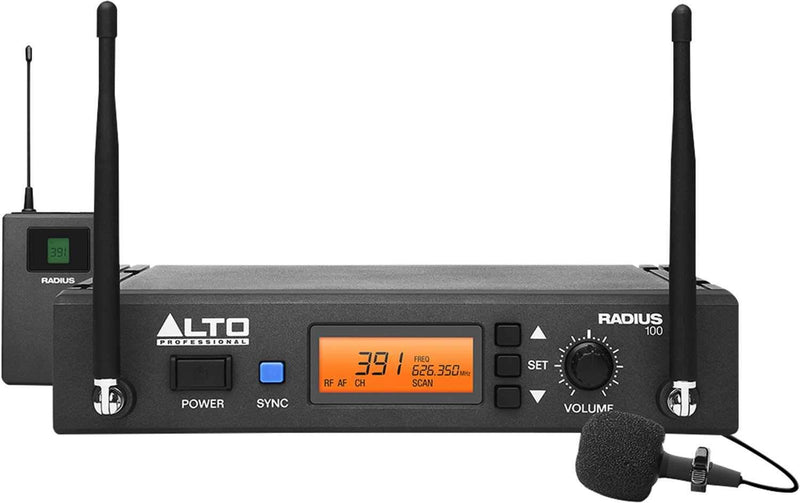 Alto RADIUS 100L UHF Wireless Lavalier Microphone - PSSL ProSound and Stage Lighting
