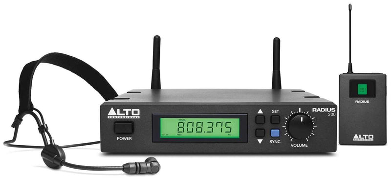 Alto RADIUS 200H UHF Wireless Headset Microphone - PSSL ProSound and Stage Lighting