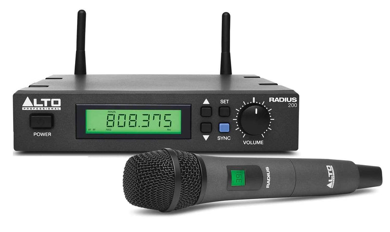 Alto RADIUS 200 UHF Wireless Handheld Microphone - PSSL ProSound and Stage Lighting