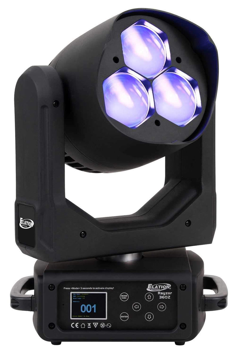 Elation Rayzor 360Z 3x60-Watt RGBW LED Moving Head Light - PSSL ProSound and Stage Lighting