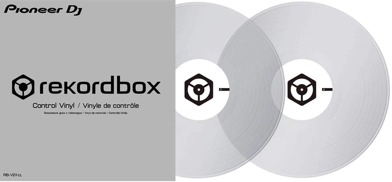 Pioneer DJ RB-VD1-CLControl Vinyl for rekordbox DJ Double Clear Pack - PSSL ProSound and Stage Lighting