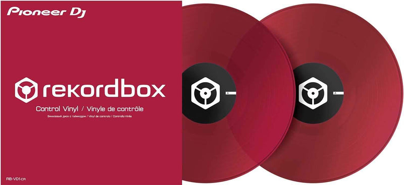 Pioneer DJ RB-VD1-CR Control Vinyl for rekordbox DJ Double Red Pack - PSSL ProSound and Stage Lighting