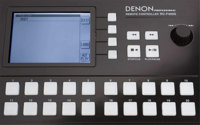 Denon DJ RC-F400S Hot Start Remote for DN-F400 - PSSL ProSound and Stage Lighting