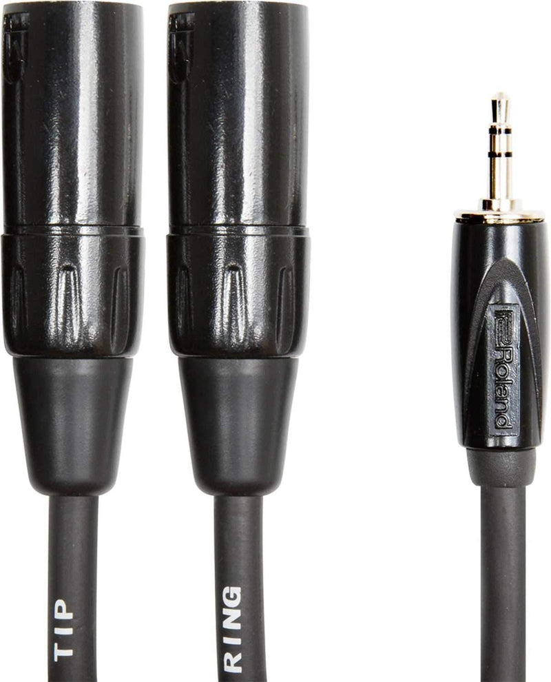 Roland RCC-10-352XM 10ft 1/8-inch TRS to Dual XLR Male Cable - PSSL ProSound and Stage Lighting