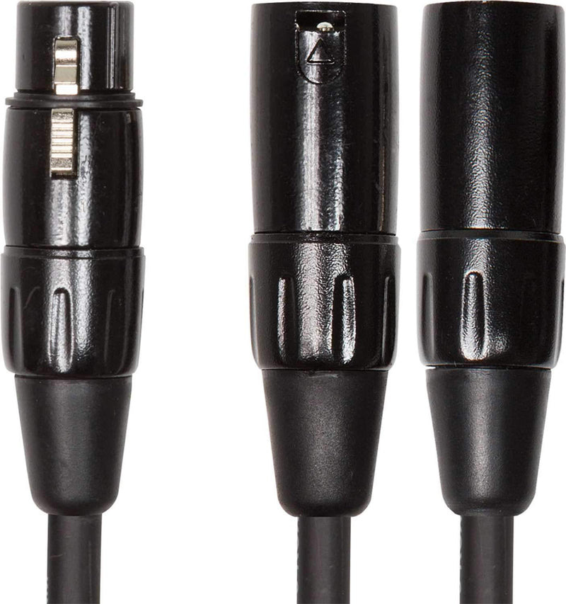 Roland RCC-YC-XF2XM 6 Inch XLR-F to Dual XLR-M Y-Cable - PSSL ProSound and Stage Lighting