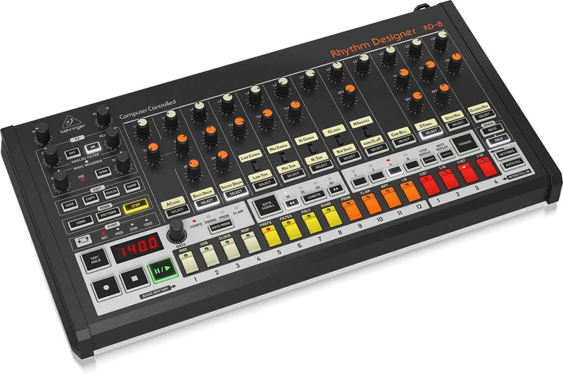 Behringer Rhythm Designer RD-8 Analog Drum Machine - PSSL ProSound and Stage Lighting