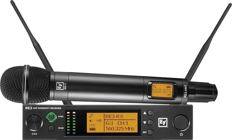 Electro-Voice RE3 ND76 5H Wireless Handheld Mic Set - PSSL ProSound and Stage Lighting