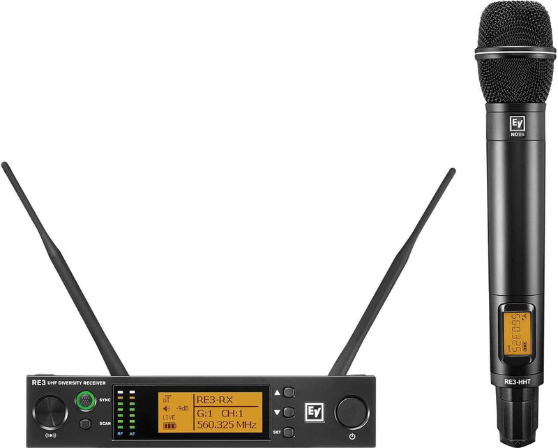 Electro-Voice RE3 ND86 5H Wireless Handheld Mic Set - PSSL ProSound and Stage Lighting