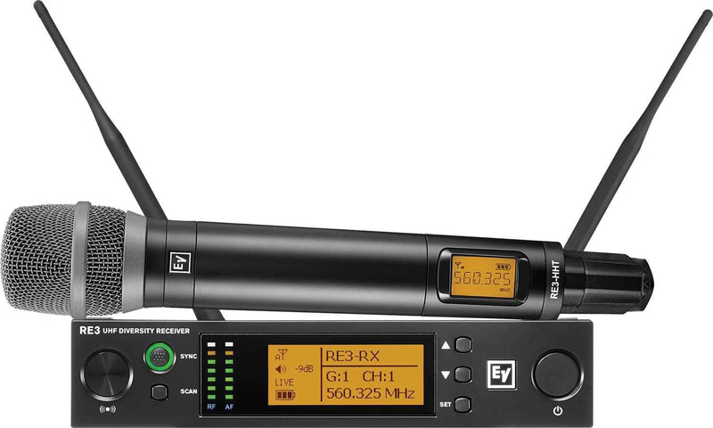 Electro-Voice RE3 RE520 5H Wireless Handheld Mic Set - PSSL ProSound and Stage Lighting
