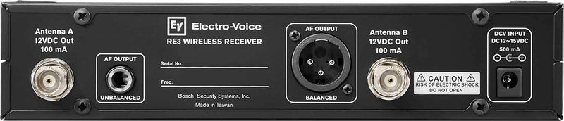 Electro Voice RE3-RX-5L Half Rack Receiver - PSSL ProSound and Stage Lighting