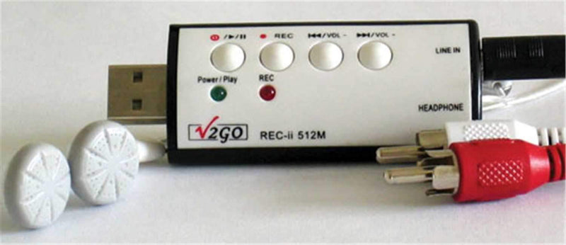 V2Go Digital Line-In Music Recorder / Player - PSSL ProSound and Stage Lighting