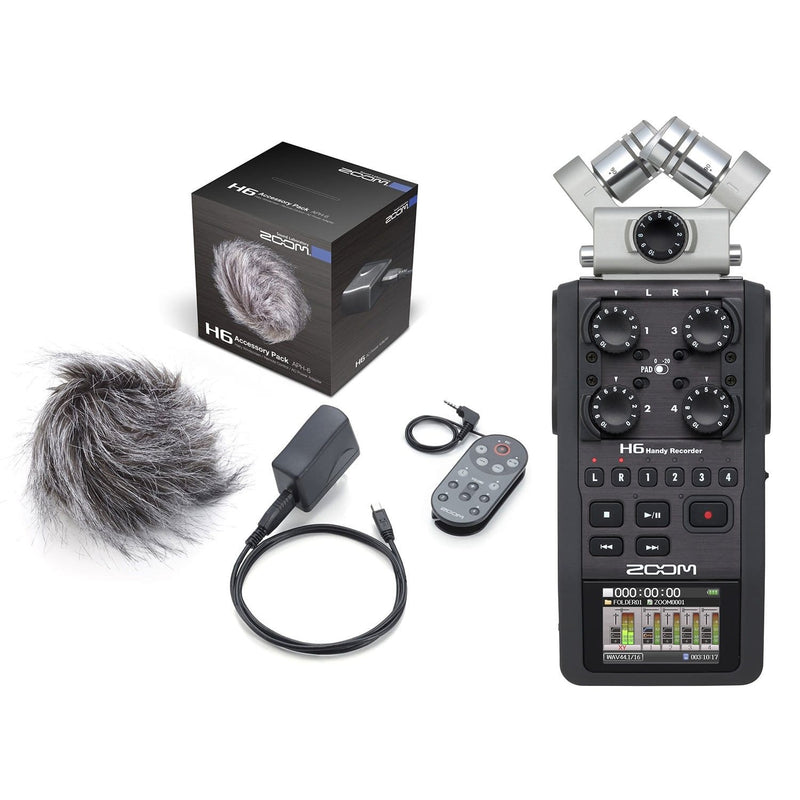 Zoom H6 Portable Field Recorder & Accessory Pack - PSSL ProSound and Stage Lighting