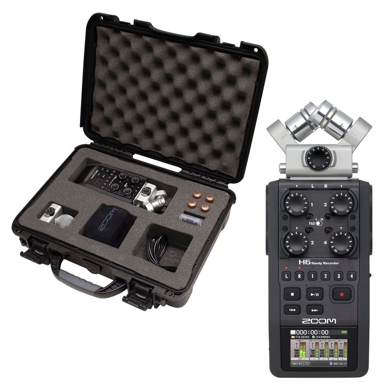 Zoom H6 Field Recorder with Gator Waterproof Case - PSSL ProSound and Stage Lighting