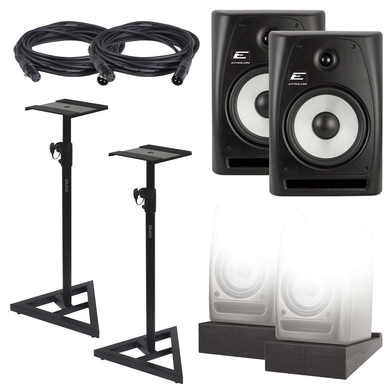 Epsilon EPM 6.5-Inch Complete Studio Monitors Kit - PSSL ProSound and Stage Lighting
